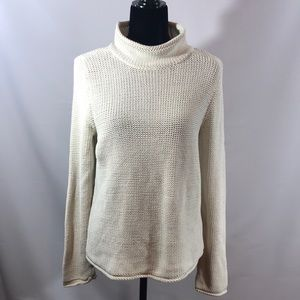 LIZ CLAIBORNE Mock Turtleneck Ivory Sweater/MED